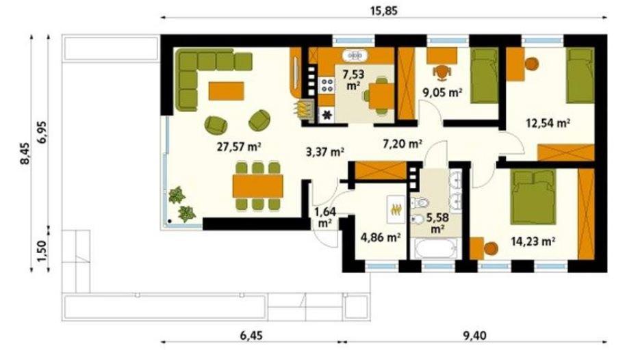 Planos de casas de campo modernas for Planos de casas de campo modernas