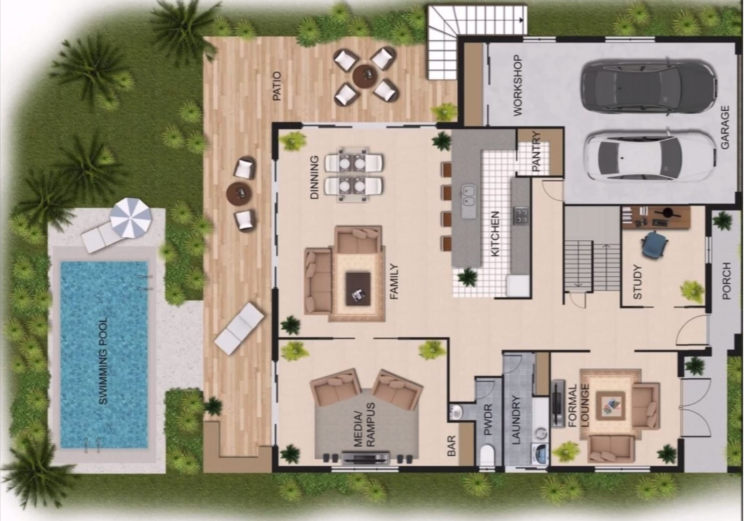 Planos de casas modernas planos de casas gratis y modernas for Casas para herramientas de jardin