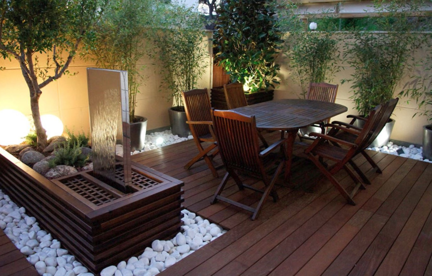 Pisos para patios y terrazas for Decorar patio economico