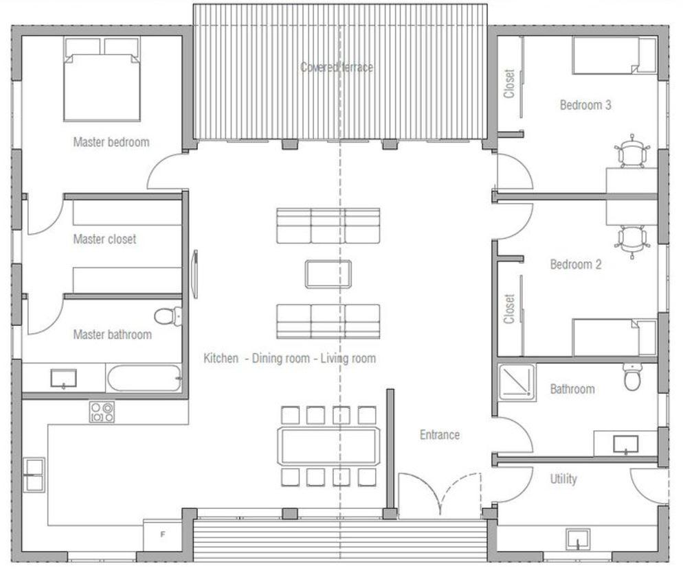 Planos de casas modernas planos de casas gratis y modernas for Casa moderna 80m2