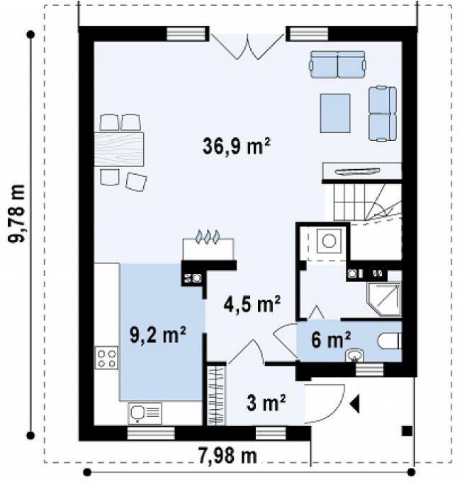 Planos de casas modernas planos de casas gratis y modernas for Escalera de 5 metros