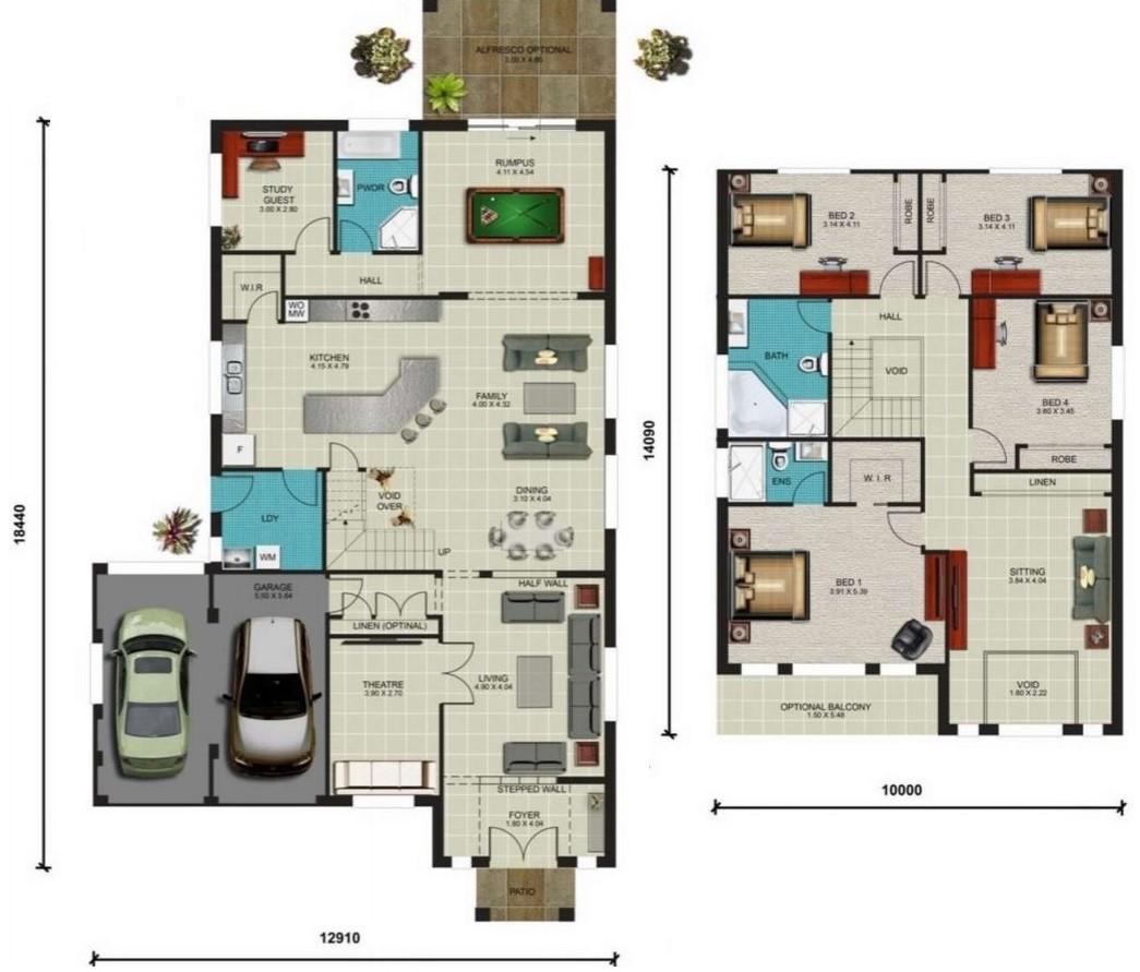 Planos de casas modernas planos de casas gratis y modernas for Planta de casa de dos pisos