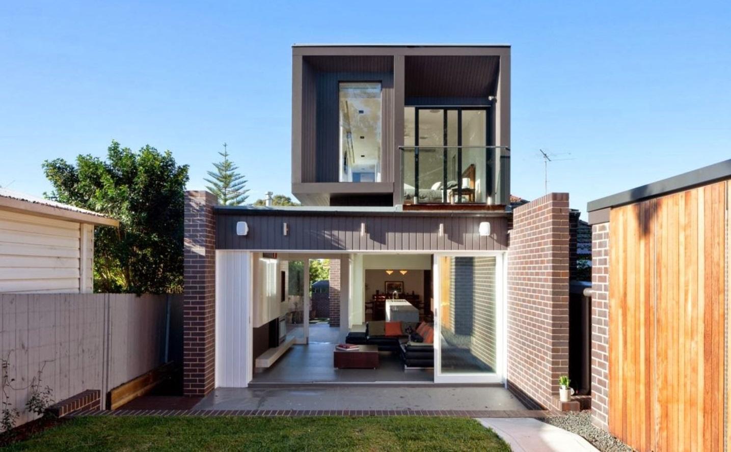Casa entre medianeras for Fachadas de casas modernas entre medianeras