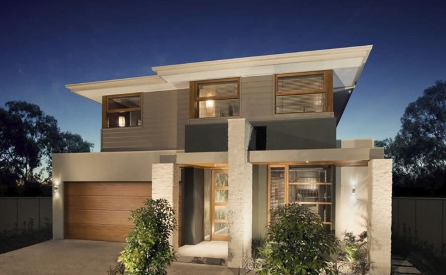 Frentes de casas bonitas for Fachadas de casas modernas 2 pisos