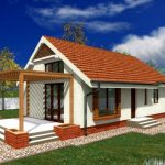 Plano de casa de una planta con dos habitaciones y medidas en metros