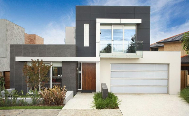 Frentes de casas bonitas for Casas modernas planos y fachadas