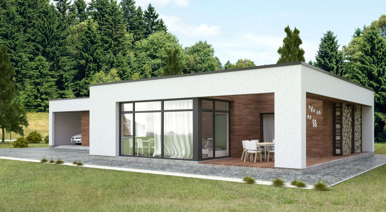 Casa minimalista una planta planos de casas modernas for Vivienda minimalista planos