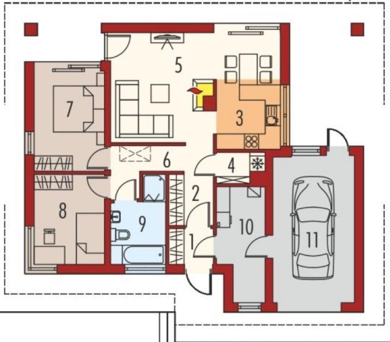 2 dormitorios planos de casas modernas for Distribucion de apartamentos de 40 metros