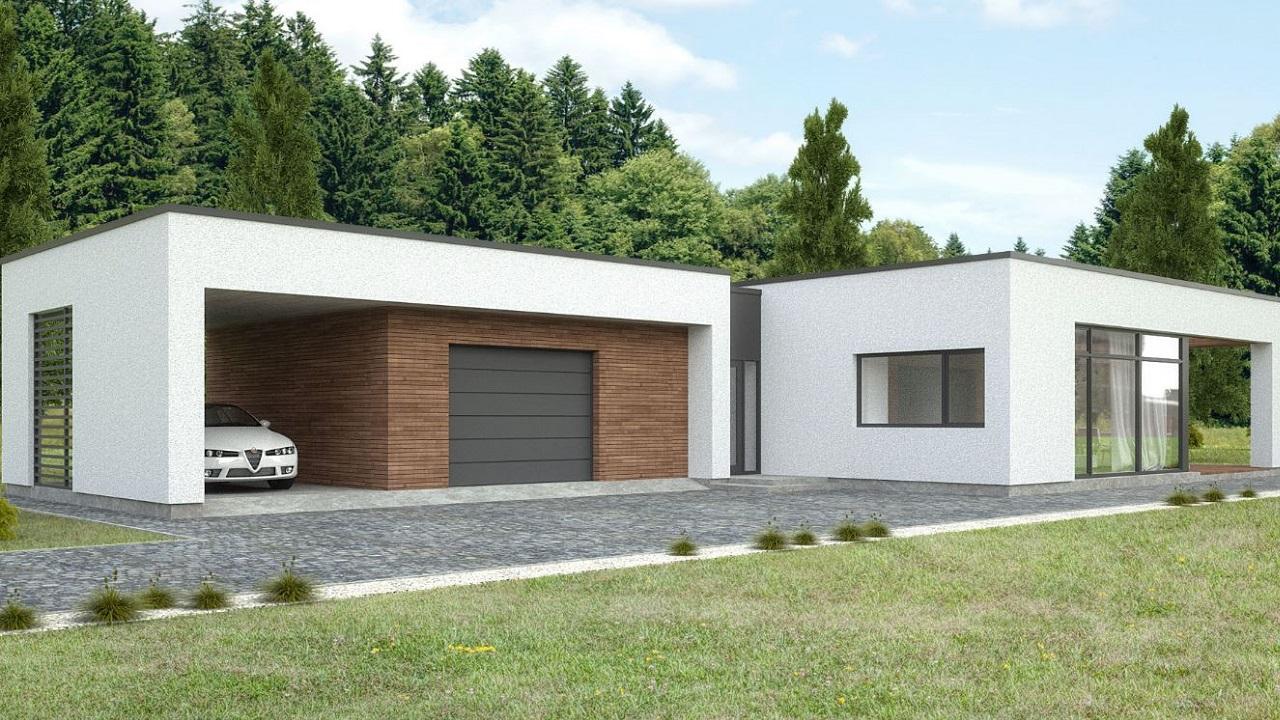 Casa minimalista una planta planos de casas modernas for Planos casa minimalista 3d