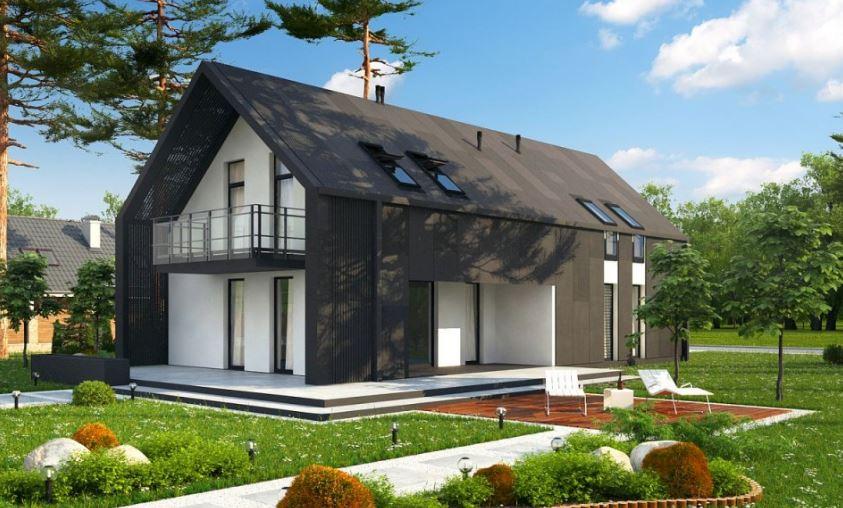 Plano de casa moderna de 8x16 metros for Casa moderna a dos aguas