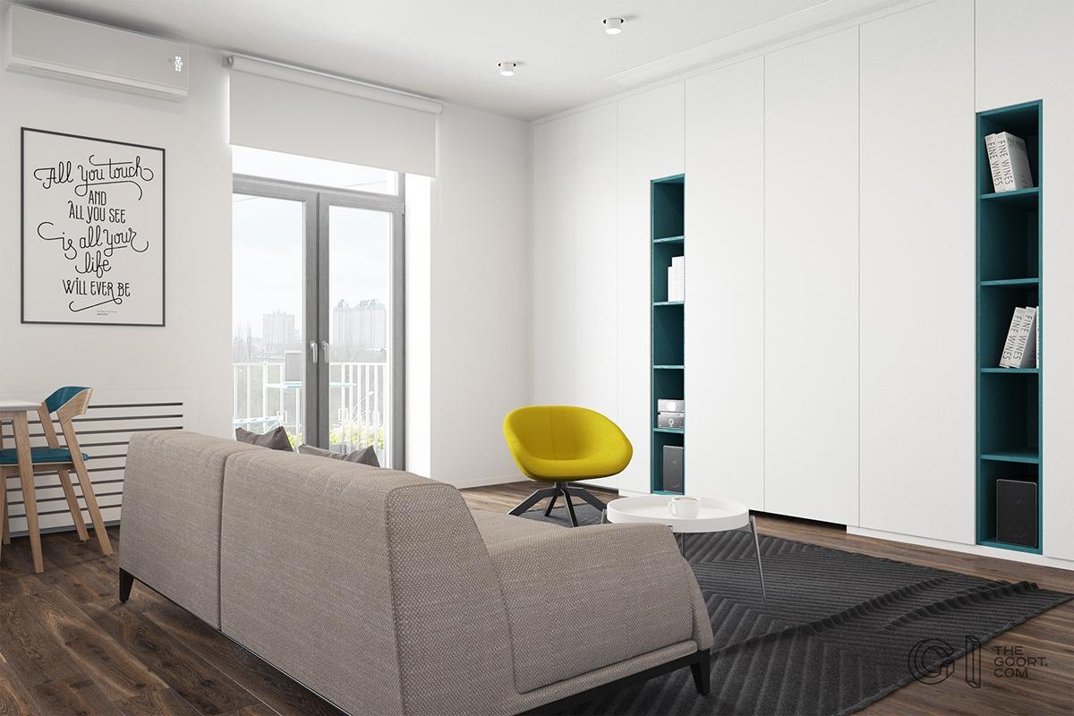 Modelo De Departamentos De 50 Metros Cuadrados Planos De Casas  # Muebles Cuadrados