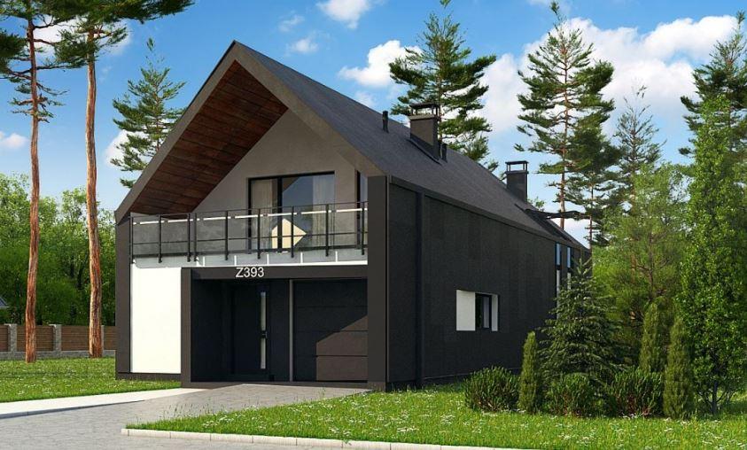 Plano de casa moderna de 8x16 metros for Modelos de construccion de casas modernas