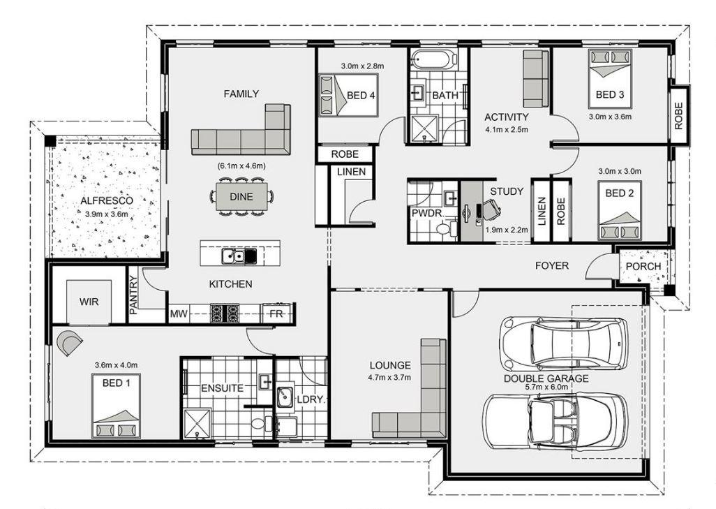 Planos de casas modernas planos de casas gratis y modernas for Planos de casas medianas