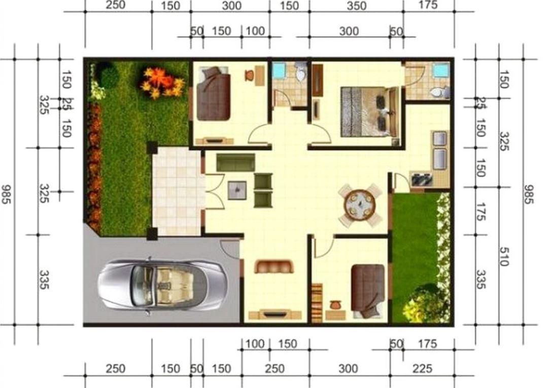 5 planos de casas chicas con medidas en metros for Planos de casas chicas