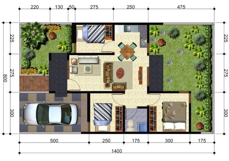 Plano de casa con medidas en metros planos de casas modernas for Disenos de casas pequenas para construir