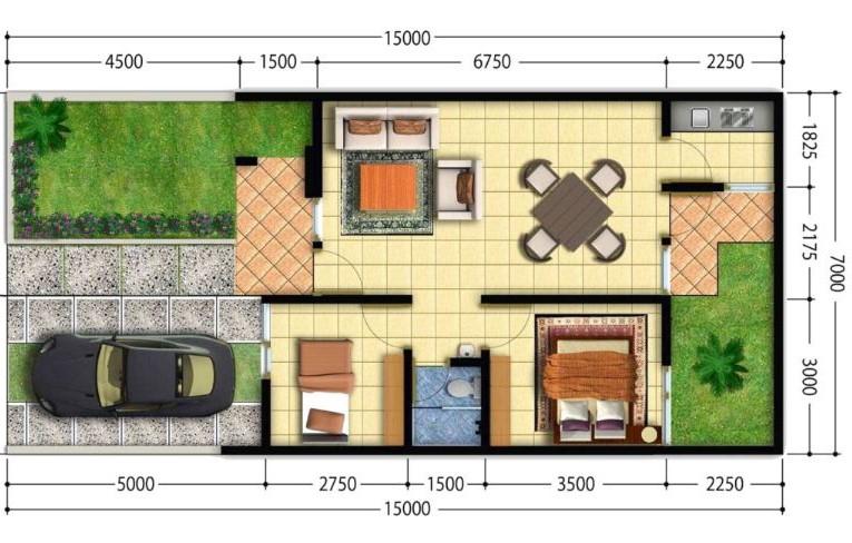 5 planos de casas chicas con medidas en metros for Planos de casas sencillas