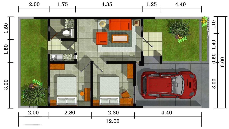 Plano de casa para terreno angosto planos de casas modernas for Como hacer planos en 3d