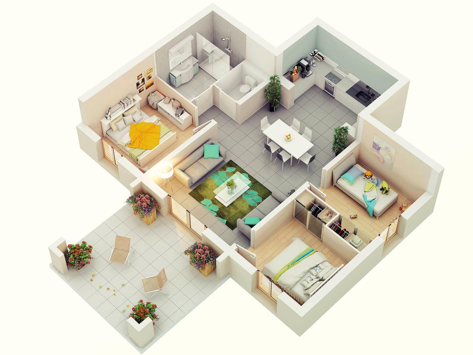 10 Diseños De Departamentos Con Balcones Amplios