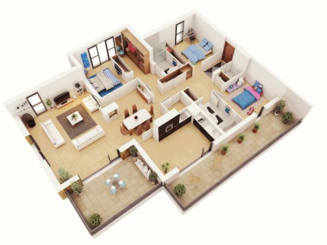 Planos de departamentos con balcones planos de casas modernas Kitchen design center el segundo