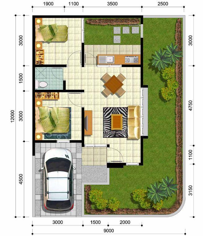 Plano de casa con medidas en metros planos de casas modernas for Casa de una planta sencilla
