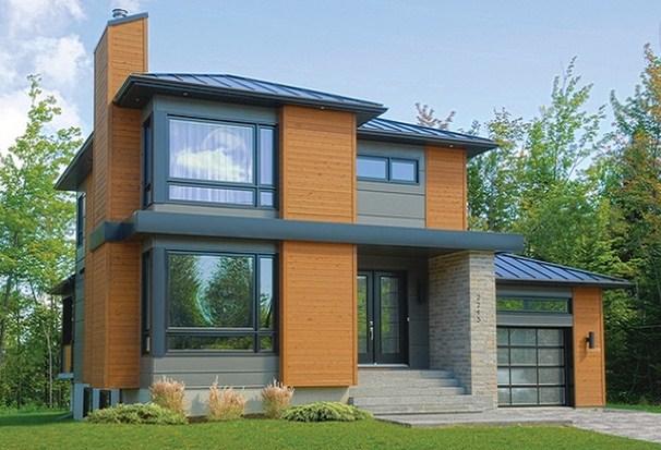 5 modelos de casas de dos pisos y sus planos. Black Bedroom Furniture Sets. Home Design Ideas