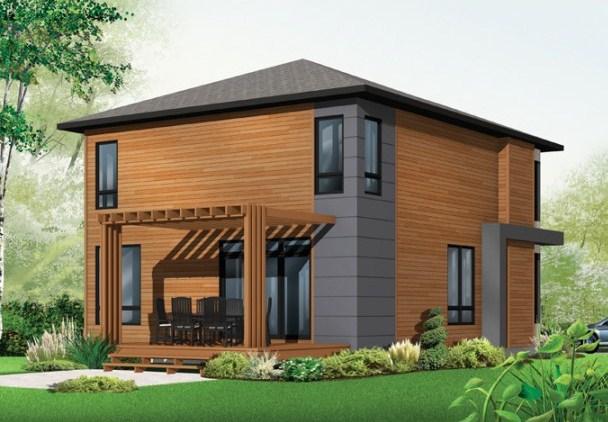 5 modelos de casas de dos pisos y sus planos for Modelos de casas de 3 dormitorios
