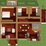 Plano de casa moderna de 150 m2