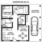 Plano de casa moderna de 95 m2
