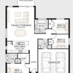 Plano de casa de 190 m2 y garaje doble