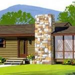 Planos de casas de campo con jardín de invierno