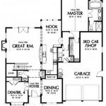 Plano de casa amplia de 2 pisos