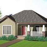 Plano de casa económica de 100 m2