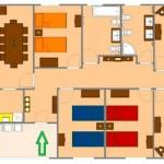 Plano de casa grande de 5 dormitorios en 350 m2