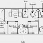 Plano de casa de 3 dormitorios en 1 planta