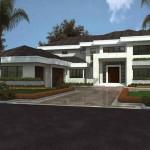Plano de casa moderna grande