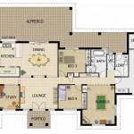 Plano de casa moderna de 250m2 en una planta