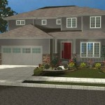 Plano de casa de dos plantas y 270m2