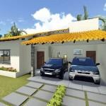 Plano de casa moderna y sencilla