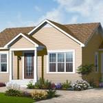 Plano de casa sencilla de 2 dormitorios