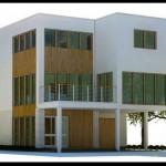 Plano de casa de 3 pisos y 210 metros