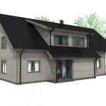 Plano de casa prefabricada de 2 pisos