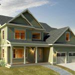 Planos de casa de dos plantas, un garaje y cuatro dormitorios