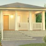 Plano de casa tipo bungalows