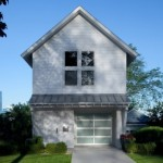 Planos de casa duplex con garaje