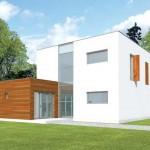 Plano de casa minimalista de dos plantas