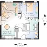 Plano de casa de 8 x 8 m