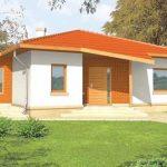 Plano de casa moderna de 11 x 14 m for Casa moderna 150 m2