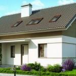 Casa moderna con techo a dos aguas