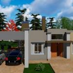 Plano de casa de 14 x 20 m
