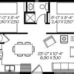 Plano de un departamento pequeño con medidas